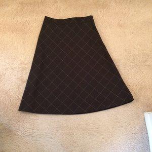 J. crew wool a-line skirt